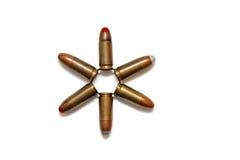 estrela Seis-pointed dos cartuchos isolados Fotografia de Stock