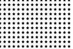 Estrela sem emenda abstrata do preto do teste padrão no projeto branco do fundo Imagens de Stock