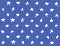 Estrela sem emenda do teste padrão do vetor no azul Imagem de Stock