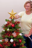 Estrela sobre a árvore de Natal imagem de stock