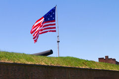 A estrela Spangled a bandeira fotografia de stock royalty free