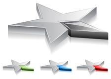 A estrela stars (o vetor) Imagens de Stock