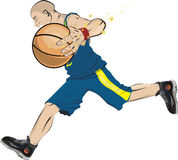 Estrela super do basquetebol Imagem de Stock