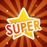 Estrela super, fundo Fotografia de Stock