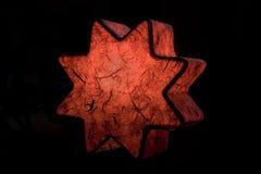 Estrela superior da árvore imagens de stock