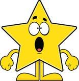 Estrela surpreendida dos desenhos animados Foto de Stock Royalty Free