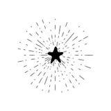 Estrela tirada mão do moderno Ilustração do Vetor