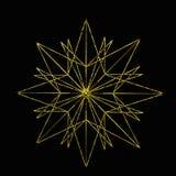 Estrela três do ouro Fotos de Stock Royalty Free