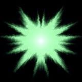 Estrela verde do fundo Fotos de Stock