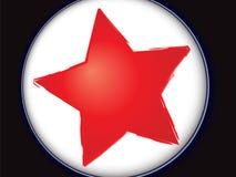 Estrela vermelha ilustração stock