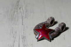 Estrela vermelha imagens de stock