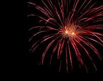 Estrela vermelha bonita dos fogos-de-artifício Imagem de Stock Royalty Free