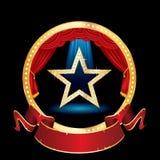 Estrela vermelha da fase do círculo ilustração do vetor