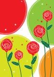 Estrela vermelha desenhada Flowers_eps Foto de Stock Royalty Free