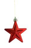 Estrela vermelha do Natal Fotos de Stock Royalty Free