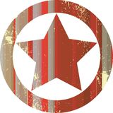 Estrela vermelha do xerife ilustração royalty free