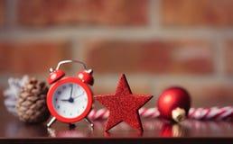 Estrela vermelha e outro do Natal Imagens de Stock Royalty Free