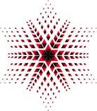 Estrela vermelha e preta Imagem de Stock Royalty Free