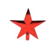 Estrela vermelha em um fundo branco Fotografia de Stock