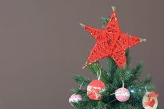 Estrela vermelha handcrafted Natal imagem de stock royalty free
