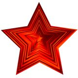 Estrela vermelha (vetor) Fotos de Stock Royalty Free