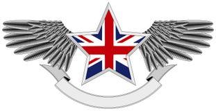 Estrela voada com bandeira BRITÂNICA ilustração royalty free