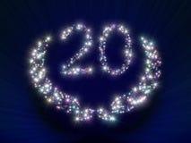 Estrelas 20 do aniversário Imagem de Stock