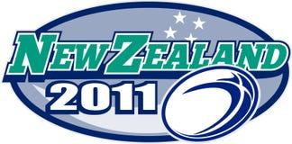 Estrelas 2011 da esfera de rugby de Zealand ilustração royalty free