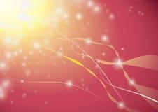 Estrelas abstratas no céu vermelho Imagens de Stock