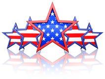 Estrelas americanas Foto de Stock