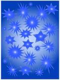Estrelas azuis Ilustração Stock