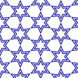 Estrelas azuis com fundo isolado Foto de Stock Royalty Free