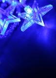 Estrelas azuis do Natal Foto de Stock Royalty Free