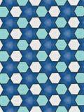 Estrelas azuis e teste padrão dos hexágonos imagens de stock royalty free