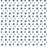 Estrelas azuis grandes e pequenas bonitos, saudação das estrelas Teste padrão ilustração royalty free