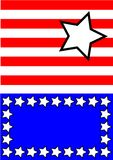 Estrelas brancas azuis vermelhas abstratas Foto de Stock