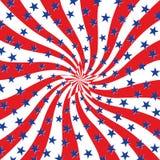 Estrelas brancas e azuis vermelhas no fundo do redemoinho ilustração do vetor