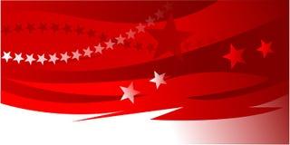 Estrelas brancas vermelhas do fundo do Natal Fotografia de Stock