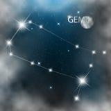 Estrelas brilhantes do sinal da constelação no cosmos ilustração do vetor