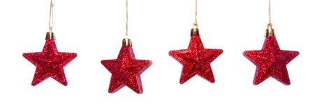 Estrelas brilhantes vermelhas Foto de Stock