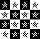 Estrelas Checkered Fotografia de Stock Royalty Free