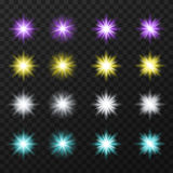 Estrelas coloridas ajustadas Foto de Stock Royalty Free