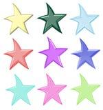 Estrelas coloridas isoladas foto de stock
