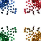 Estrelas coloridas isoladas Foto de Stock Royalty Free