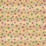 Estrelas coloridas no fundo afligido sujo Foto de Stock Royalty Free