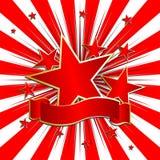 Estrelas com fita Imagens de Stock