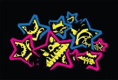 Estrelas com peças da bicicleta Foto de Stock