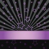 Estrelas cor-de-rosa em um fundo preto Foto de Stock