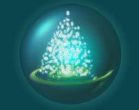 Estrelas da árvore Imagem de Stock Royalty Free