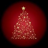 Estrelas da árvore de Natal Imagem de Stock